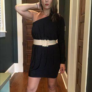 Rachel Zoe One Shoulder Black Dress for Women